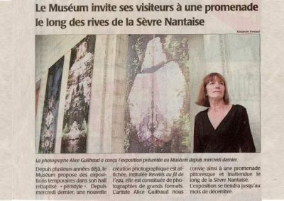 Revue de presse photo exposition édition Alice Guilbaud artiste auteur photographe